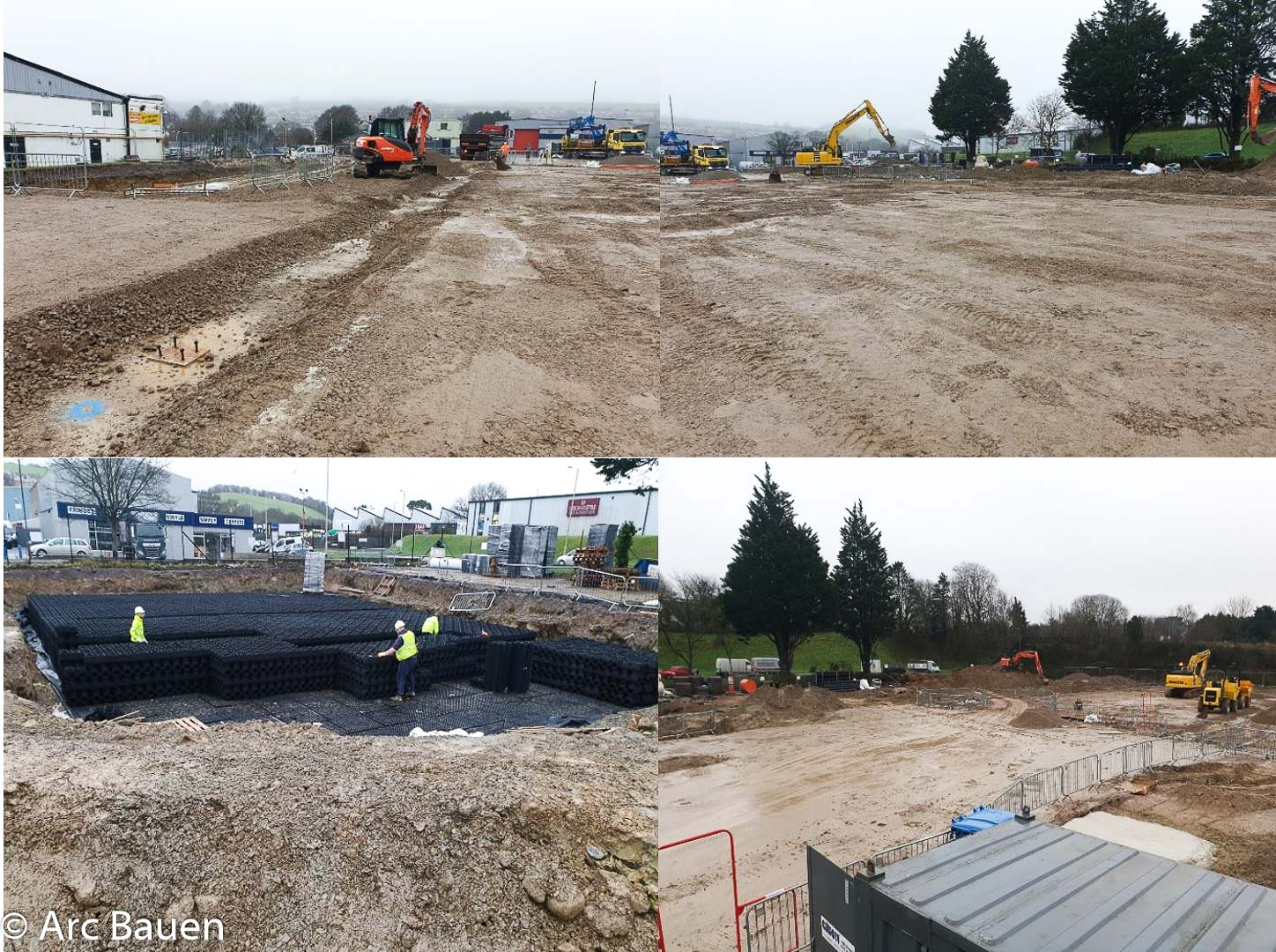 Aldi Plympton on site and in construction