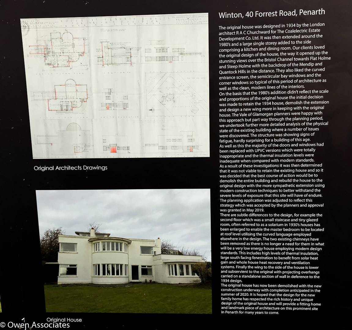 Penarth Art Deco New Build - Information for the general public