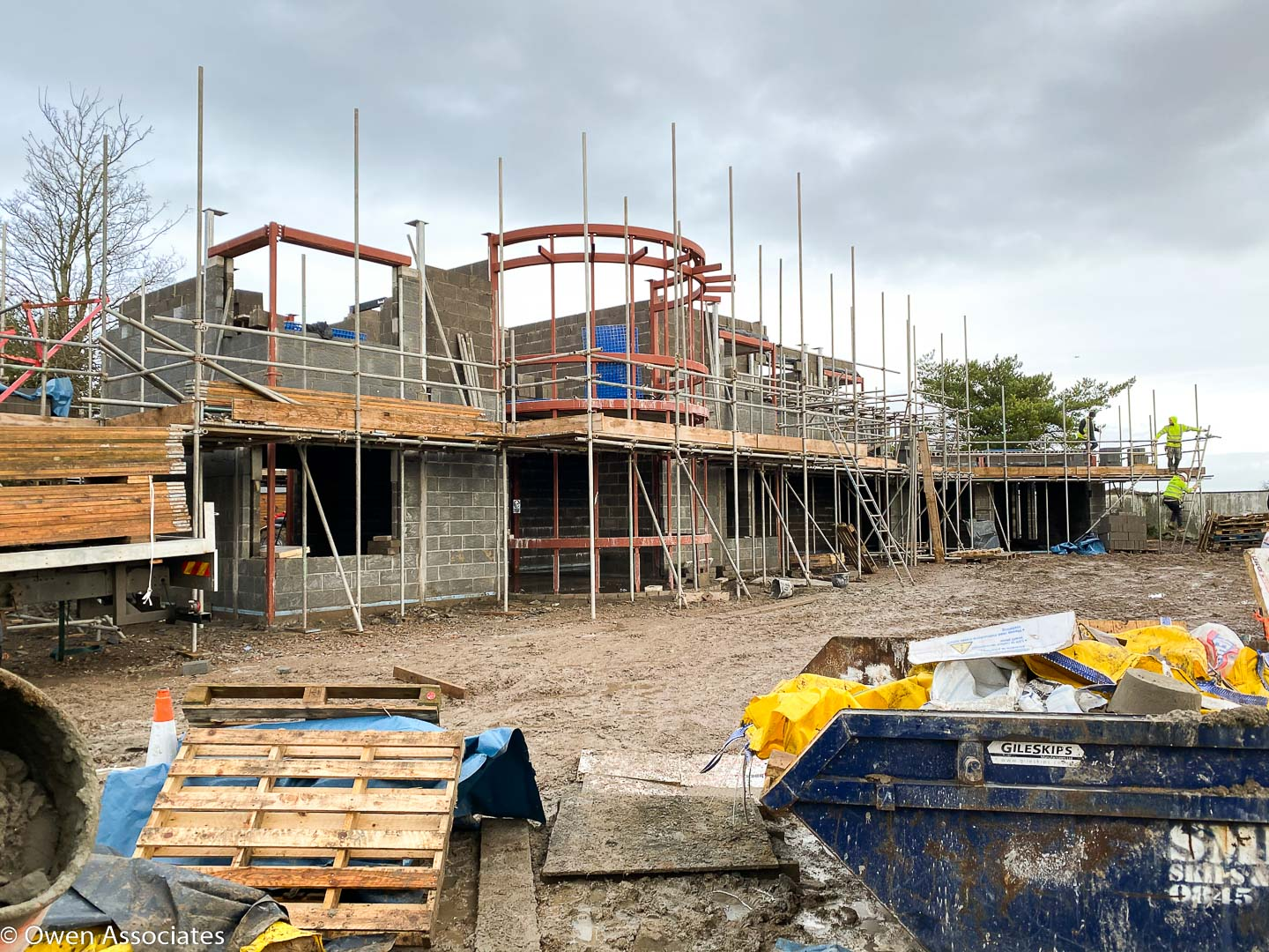 Penarth Art Deco New Build House - making good progress